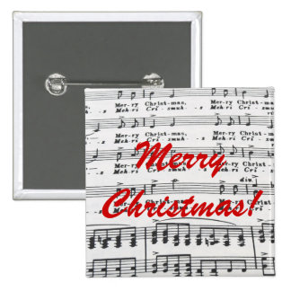 Christmas Song Sheet Music Pinback Button