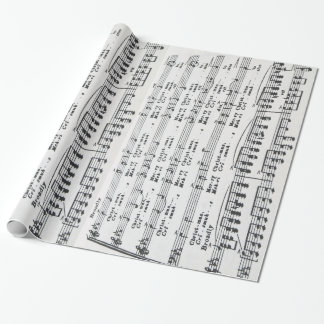 Christmas Song Sheet Music Wrapping Paper
