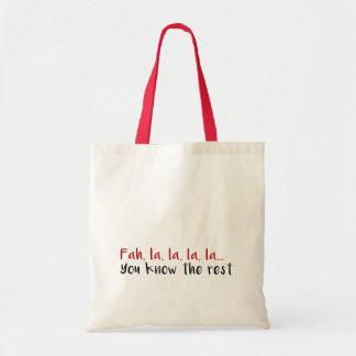 Christmas Song Tote Bag
