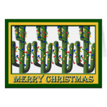 Christmas Southwest Cactus Trees Greeting Card
