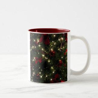 """""""Christmas Sparkle"""" Christmas coffee Two-Tone Mug"""