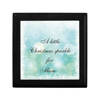 Christmas Sparkle for Mum / Mom Small Square Gift Box