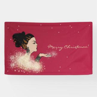 christmas sparkling fashion illustration banner