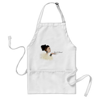 christmas sparkling fashion illustration standard apron