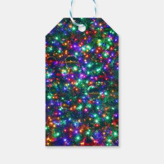 Christmas Sparkling Stars Gift Tags