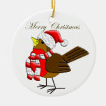 Christmas Sparrow Fun Ornament