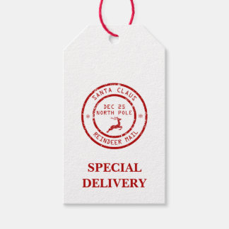 Christmas Special Delivery Reindeer Mail Gift Tags