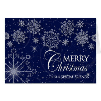 CHRISTMAS - SPECIAL FRIENDS - SNOWFLAKES/NAVY CARD