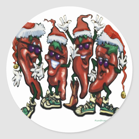 Christmas Spices Classic Round Sticker