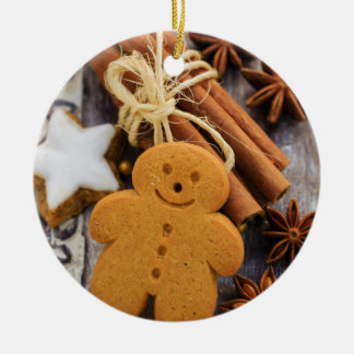 Christmas Spices, Ginger And Anise Stars Christmas Ornament