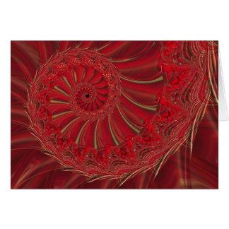 Christmas Spiral Card