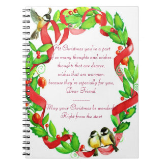 Christmas Spiral Note Books