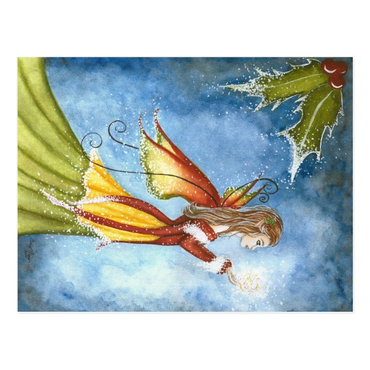 Christmas Spirit Fairy Postcard