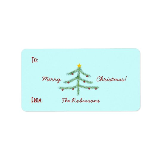 Christmas Spirit Gift Labels