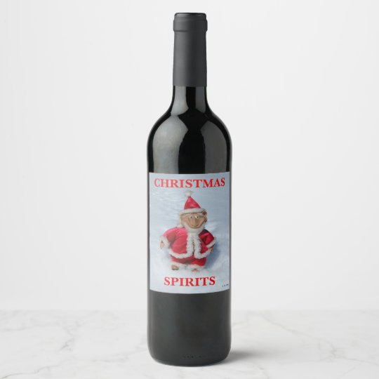 CHRISTMAS SPIRITS WINE LABEL