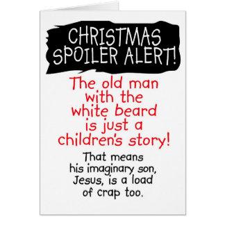 Christmas Spoiler Alert! Funny Christmas Card