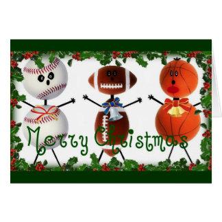 Christmas Sports Fan Greeting Card