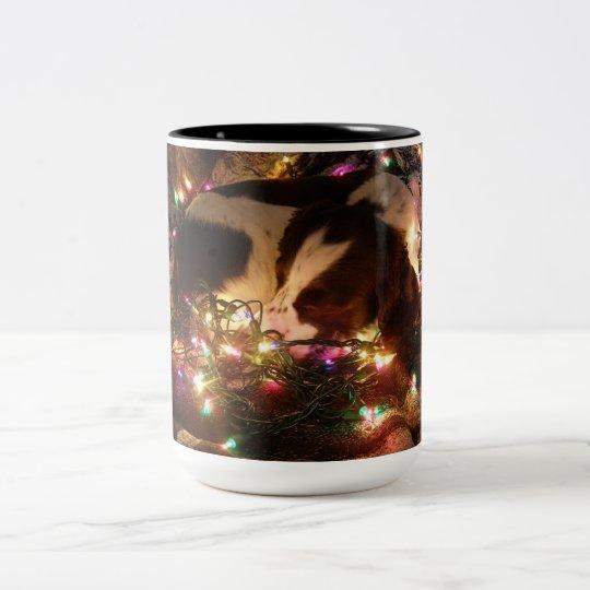 Christmas Springer Spaniel Two-Tone Coffee Mug
