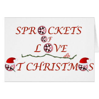 Christmas Sprockets of Love Greeting Card