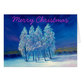 Christmas Spruce Trees Greeting Card