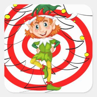 Christmas Square Sticker