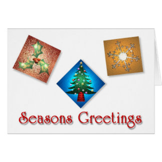 Christmas Squares Greetings Card