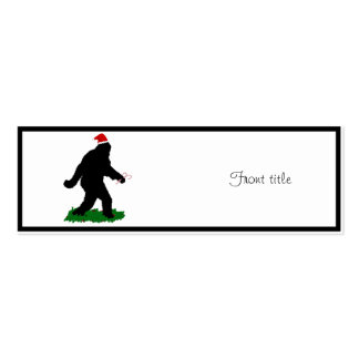 Christmas Squatchin' Pack Of Skinny Business Cards