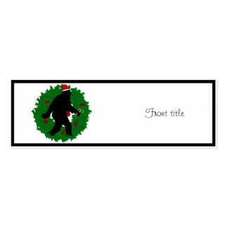 Christmas Squatchin' Business Card Templates