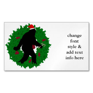 Christmas Squatchin' Magnetic Business Cards