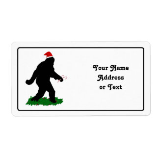 Christmas Squatchin' Shipping Label