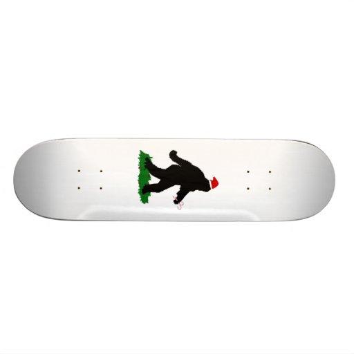 Christmas Squatchin' Custom Skateboard