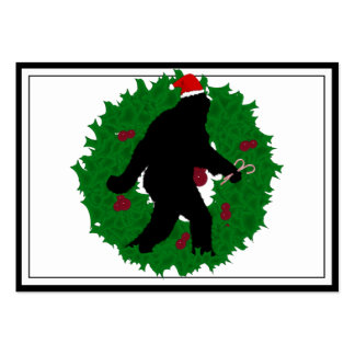 Christmas Squatchin Wreath Business Cards