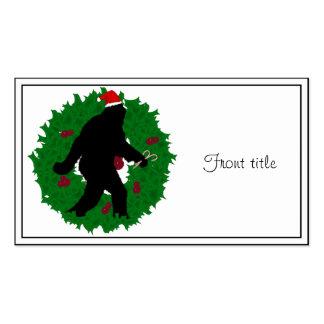 Christmas Squatchin Wreath Business Card