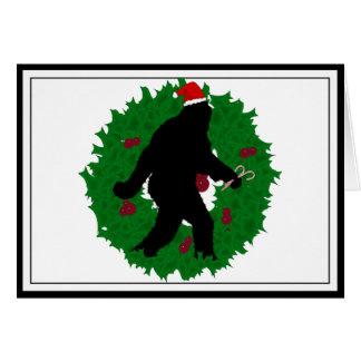 Christmas Squatchin' Wreath Card