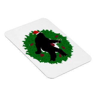 Christmas Squatchin' Wreath Flexible Magnets