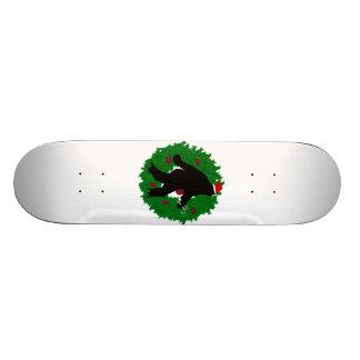 Christmas Squatchin' Wreath Skate Boards