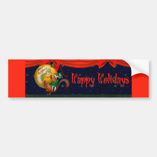 CHRISTMAS SQUIRREL BUMPER STICKER