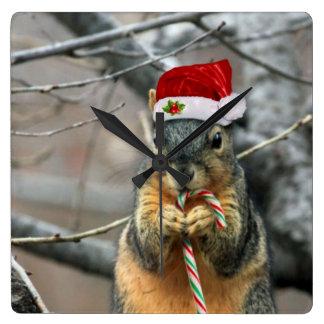 Christmas Squirrel Clock