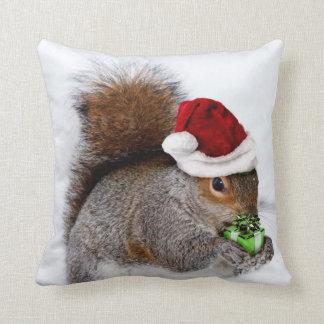 Christmas squirrel cushion