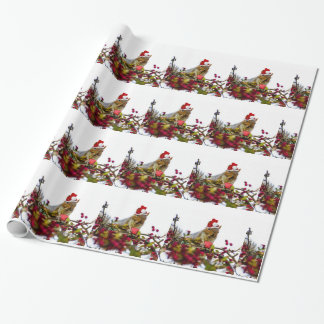 Christmas squirrel  gift wrapping paper