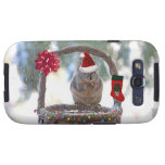 Christmas Squirrel in Snowy Basket Galaxy S3 Covers
