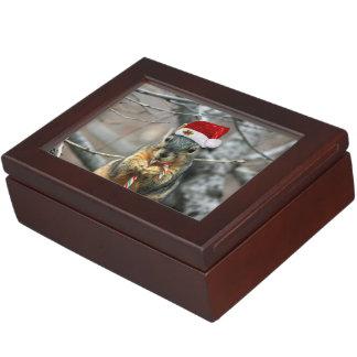 Christmas squirrel keepsake box