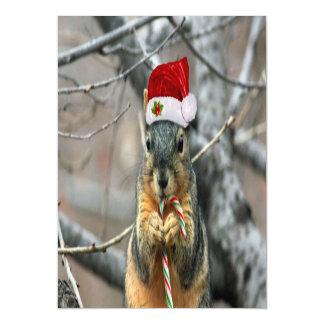 Christmas Squirrel Magnetic Invitations