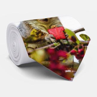 Christmas squirrel necktie