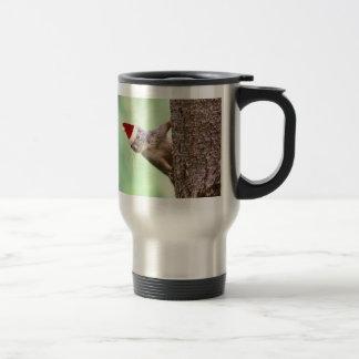 Christmas Squirrel on a Tree Travel Mug