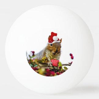 Christmas Squirrel Ping Pong Ball