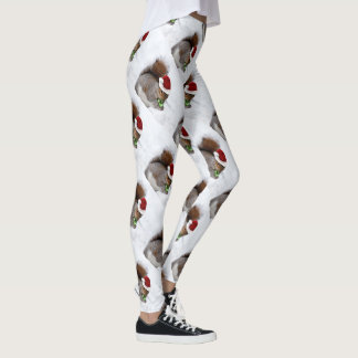 Christmas squirrel sport leggings