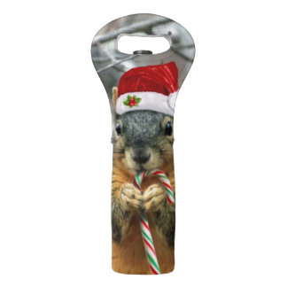 Christmas squirrel wine bag