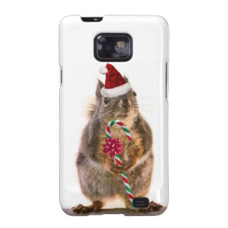 Christmas Squirrel with Candy Cane Galaxy S2 Cover