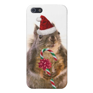 Christmas Squirrel with Candy Cane Cover For iPhone 5